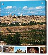 Jerusalem Poster Acrylic Print