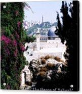 Jerusalem Throne Of Yahweh Acrylic Print