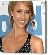 Jessica Alba At Arrivals For Premeire Acrylic Print