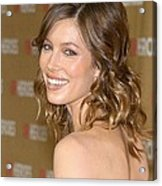 Jessica Biel At Arrivals For All-star Acrylic Print by Everett