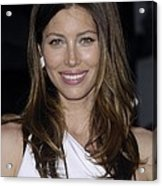 Jessica Biel At Arrivals For The A-team Acrylic Print
