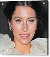 Jessica Biel  Wearing Fred Leighton Acrylic Print by Everett