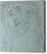 Jesus Acrylic Print by Bishoy Girgis