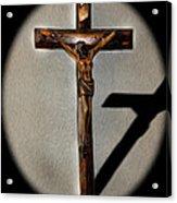Jesus Crucified Acrylic Print by Sergio Aguayo