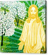 Jesus On Mount Thabor Acrylic Print