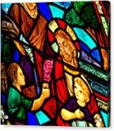 Jesus Stained Glass Acrylic Print