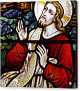 Jesus Stained Glass Acrylic Print