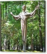 Jesus Statue Acrylic Print
