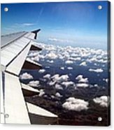 Jet Blue Takeoff Acrylic Print