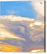 Jet Sunset Acrylic Print
