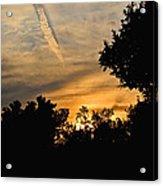 Jet Trail Sunset Acrylic Print