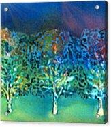 Jeweled Trees Acrylic Print