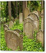 Jewish Town Tombs In The Jewish Cemetery Acrylic Print