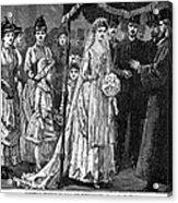 Jewish Wedding, C1892 Acrylic Print