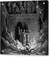 Jews In Fiery Furnace Acrylic Print