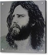 Jim Morrison Last Year Of Life Acrylic Print