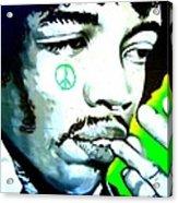 Jimi Hendrix Acrylic Print by Randall Weidner