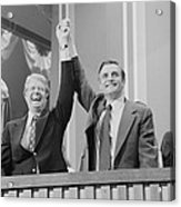 Jimmy Carter And Walter Mondale Acrylic Print