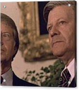 Jimmy Carter Meeting With German Acrylic Print