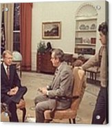 Jimmy Carter Prepares For An Interview Acrylic Print