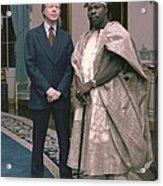 Jimmy Carter With Nigerian Ruler Acrylic Print