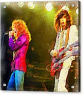 Jimmy Page And Robert Plant Acrylic Print