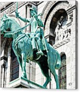 Joan Of Arc At Sacre Coeur Basilica Paris France Acrylic Print