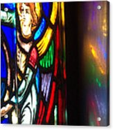 Joan Of Arc Stained Glass Acrylic Print