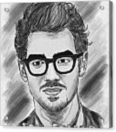 Joe Jonas Drawing Acrylic Print