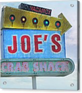 Joe's Crab Shack Retro Sign Acrylic Print