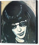 Joey Ramone The Ramones Portrait Acrylic Print by Kristi L Randall