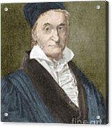 Johann Carl Friedrich Gauss, German Acrylic Print