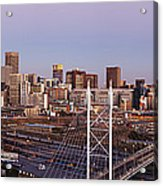 Johannesburg Skyline And Railway Station Acrylic Print by Jeremy Woodhouse
