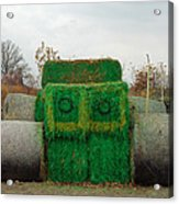 John Deer Made Of Hay Acrylic Print