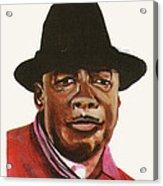 John Lee Hooker Acrylic Print by Emmanuel Baliyanga