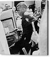 John Lewis Being Ushered Into A Police Acrylic Print