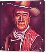 John Wayne Acrylic Print by Anastasis  Anastasi