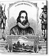 John Winthrop, English Puritan Lawyer Acrylic Print by Photo Researchers
