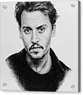Johnny Depp Acrylic Print by Andrew Read