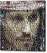 Johnny Depp Jack Sparrow Mosaic Acrylic Print