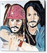 Johnny Depp X 2 Acrylic Print