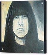 Johnny Ramone The Ramones Portrait Acrylic Print by Kristi L Randall