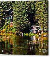 Johnny Sack Cabin II Acrylic Print by Robert Bales
