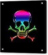 Jolly Roger Rainbow Acrylic Print