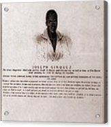 Joseph Cinquez, Lead Fifty-four African Acrylic Print by Everett