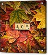 Joy-autumn Acrylic Print