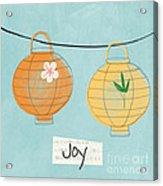 Joy Lanterns Acrylic Print by Linda Woods