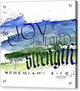 Joy Strength I Acrylic Print