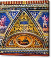 Jp Morgan Library Ceiling Detail Acrylic Print