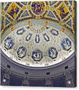 Jp Morgan Library Ornate Ceiling Acrylic Print